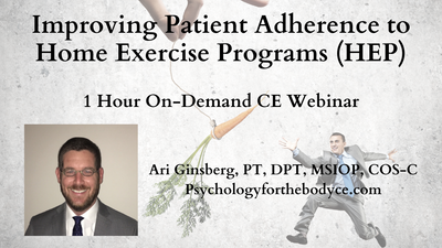 Improving Patient Adherence to Home Exercise Programs