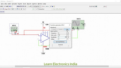 Op-Amp working as a Voltage Follower