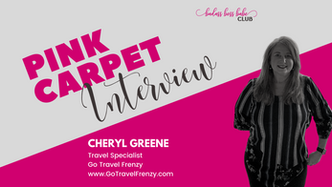 Pink Carpet Interview: Cheryl Greene of Go Travel Frenzy