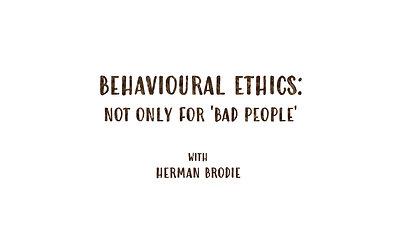 Behavioural Ethics [Trailer]
