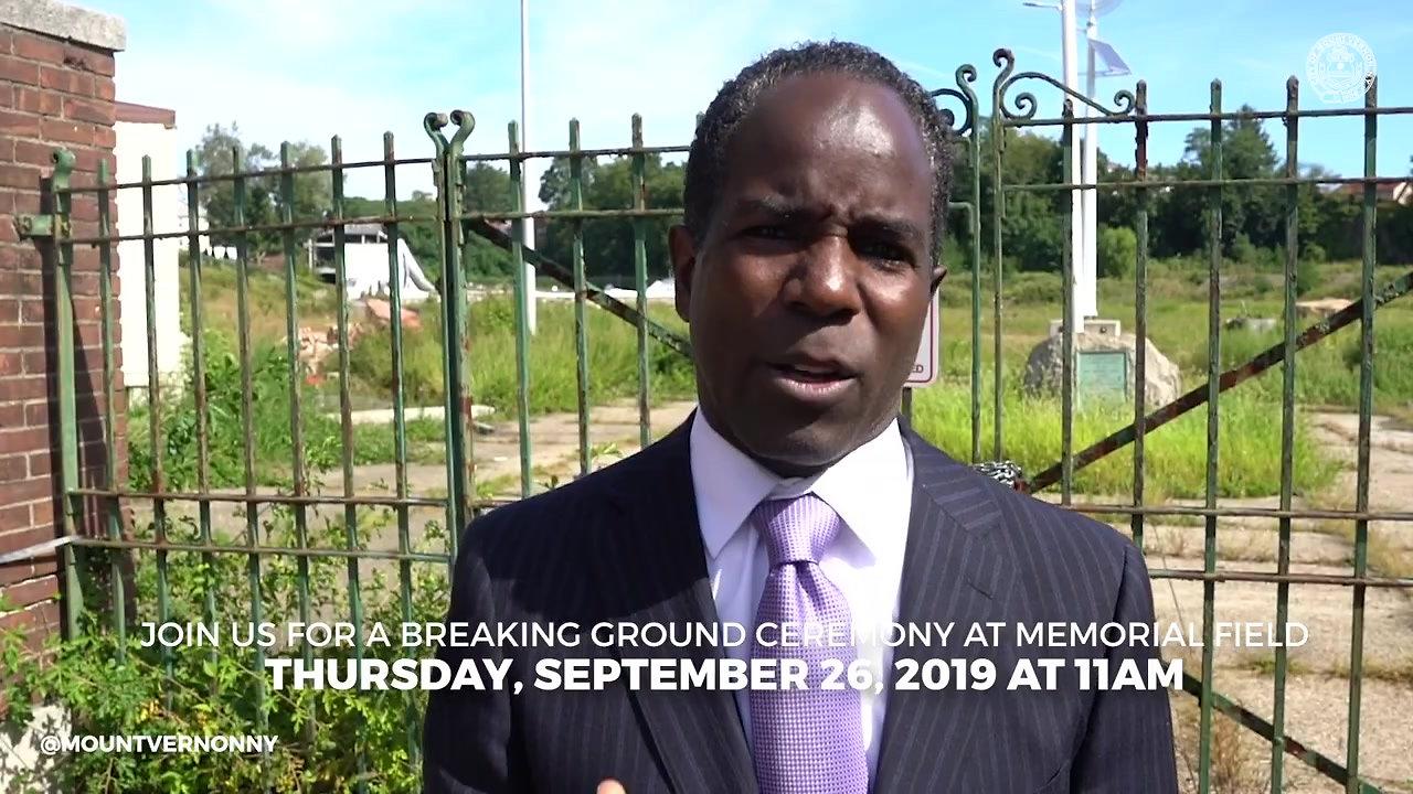 Breaking Ground on Memorial Field
