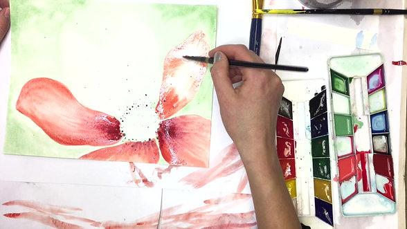 Open Pink Flower