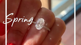 Oval Moissanite Grow under Natural Sunlight. 💎💍✨✨