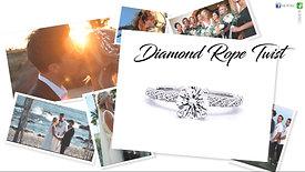 Diamond Rope Twist Engagement Ring
