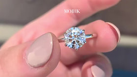 Moissanite under natural sunlight