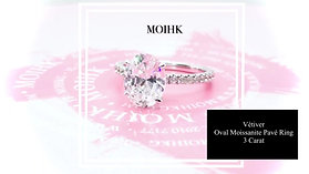MOIHK Vétiver Oval Moissanite Pavé Ring
