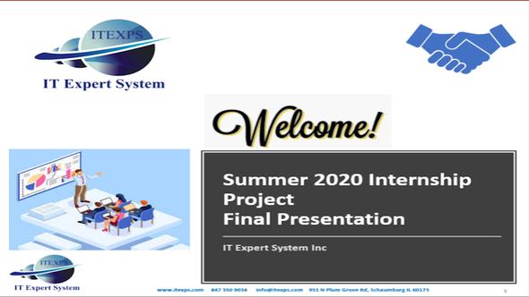 Summer Internship - 2020