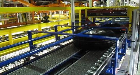 Tire Delivery Conveyor