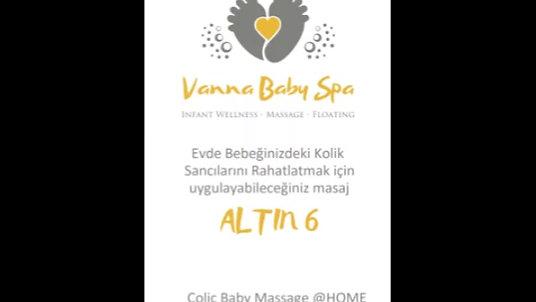 Vanna Kolik Bebek Masajı Altın 6