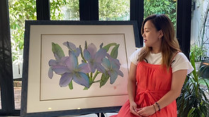 Healing Flower Art ~ブループルメリア~