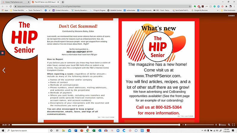 How to view The HIP Senior online magazine