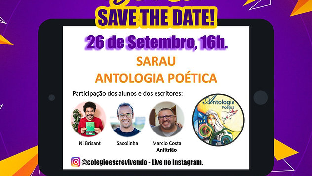 Lançamento do livro - ANTOLOGIA POÉTICA