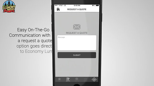 Economy lumber iPhone Stylish Mobile App Promo Video