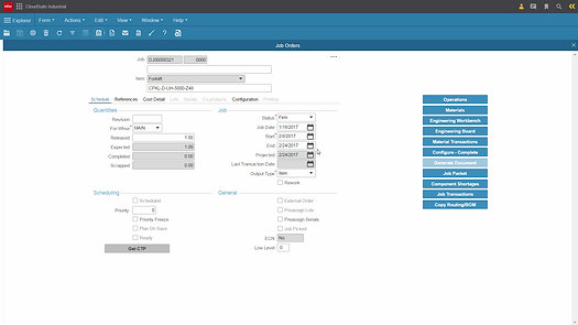 CloudSuite Industrial Production Control Demo