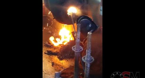 Thermisch lansen Hydraulisch cilinderpen.