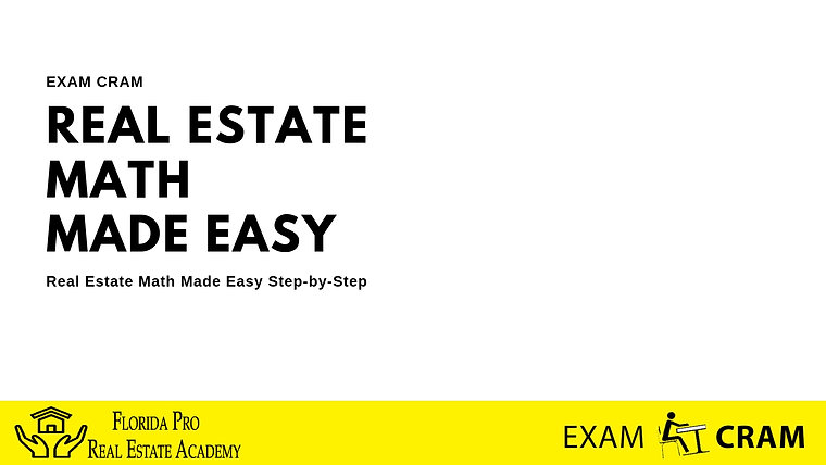 EXAM CRAM Real Estate Math