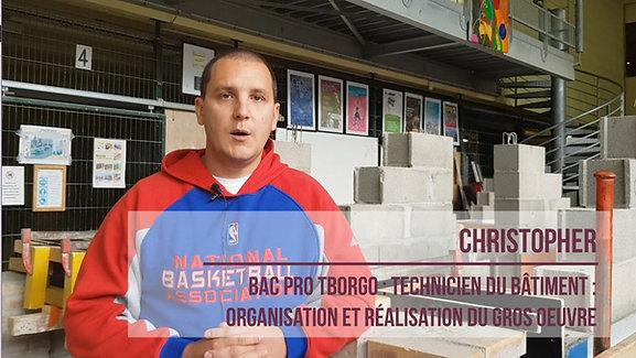 Christopher, apprenti Chef d'équipe en Bâtiment