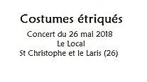 Costumes étriqués - Le Local - 26/05/18