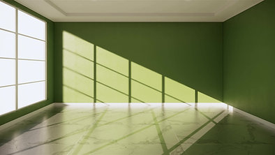 Green wall interior Painting work