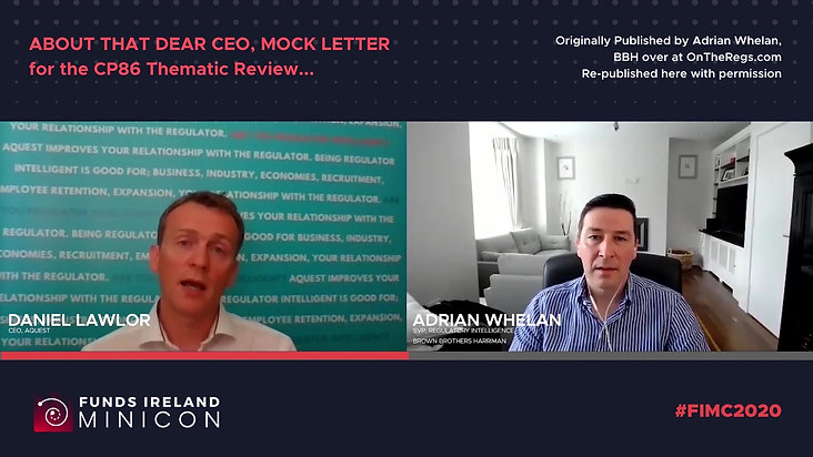 [Special Edition] Adrian Whelan and Daniel Lawlor on the Regs: About that Dear CEO Mock Letter
