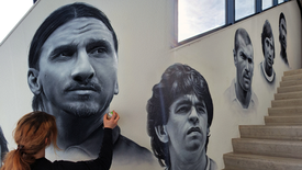 Painting Famous Football Players! AFTERMOVIE