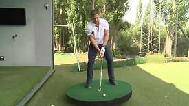 How to perform an up hill shot in golf
