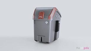 Infografias 3D de Contenedores de basura
