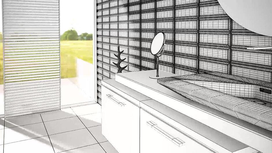 Animación Infografía 3D baño