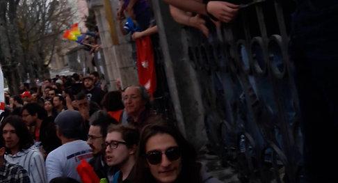 Fim da manifestação em Coimbra