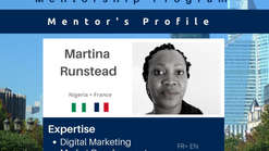 Meet Martina Runstead, Mentor on Digital Marketing