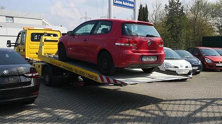 Fahrzeug abladen...