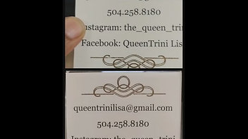 Contact Card with Gold Foil