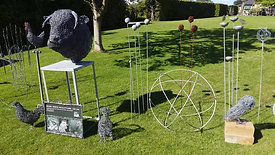 mark irwin sculpture at RHS Harlow Carr 2019