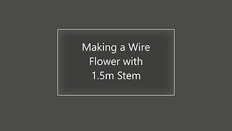 Making Wire Flowers