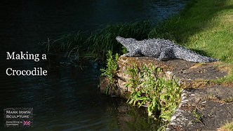 Crocodile wire sculpture