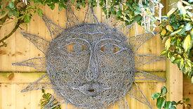Sun wire sculpture