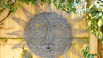 Sun wire sculpture