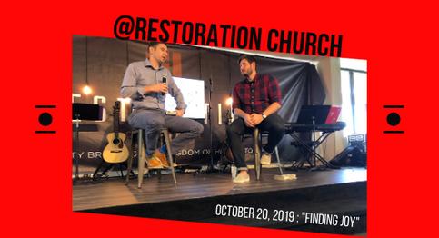 """Finding Joy"" at Restoration Church"