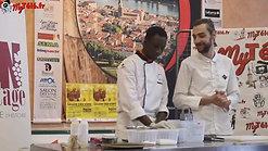 Le Chef Thomas REDON en démonstration au Salon des Vins de Tain