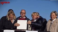 pose de la première pierre du futur centre d'entrainement et siège social du Valence Romans Drôme Rugby (VRDR).