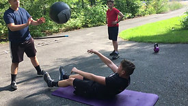 Medicine Ball Sit Up Throw 2