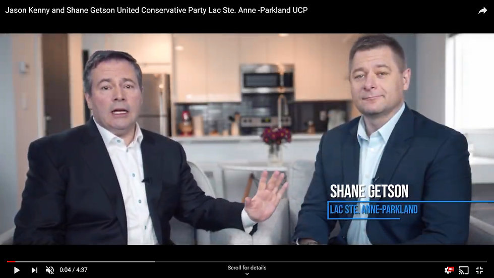 Jason Kenny and Shane Getson United Conservative Party Lac Ste. Anne -Parkland UCP