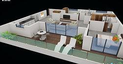 תוכנית דירה בתלת מימד