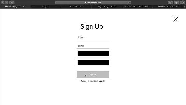 Sign Up Process