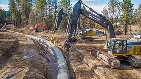 Latham Excavation Welded Pipe Placement