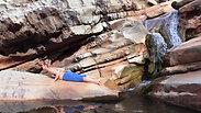 Karijini Waterfall Yoga with instruction + music