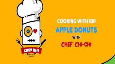 Cooking with ibii - Apple Donuts