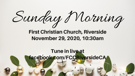 November 29 Sunday Morning Worship
