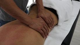 Masaje manual en espalda