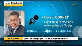 05.02.2020  Interview de Cédric CORNET sur  la radio Guadeloupe la 1ère